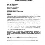 Walking Possession Agreement