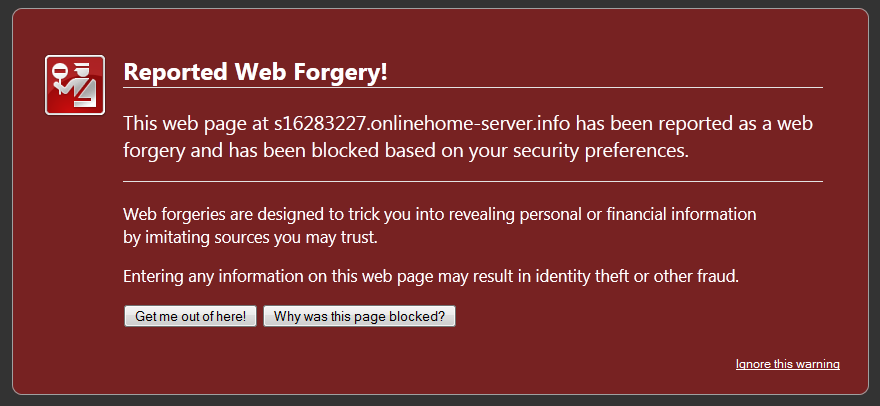 Web Forgery Notice