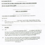 Debt and a Deed of Assignment