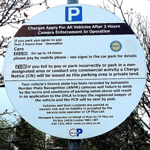 Parking Charges CP Plus #STOM